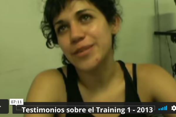 Testimonios sobre el Training 1 - 2013