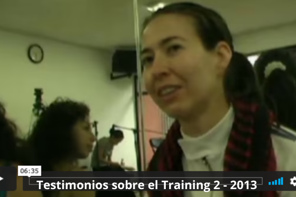 Testimonios sobre el Training 2 - 2013